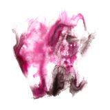 Macro spot purple, black blotch texture isolated Stock Photography
