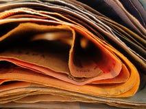 Macro stampe di arti della carta da parati del fondo dei soldi immagini stock