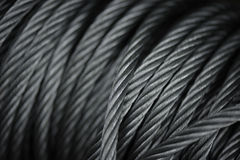 Macro Steel Cables Stock Images