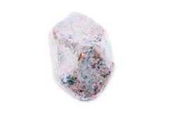 Macro stilbit di pietra minerale sopra fondo bianco Fotografia Stock