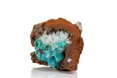 Macro stone Hemimorphite mineral on white background. Close up stock images