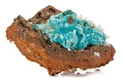 Macro stone Hemimorphite mineral on white background. Close up royalty free stock photos