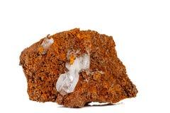 Macro stone Hemimorphite mineral on white background. Close up stock image