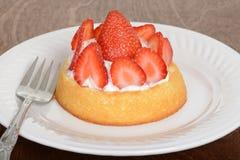 Macro strawberry shortcake Royalty Free Stock Images