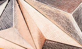 Macro struttura geometrica tridimensionale metallica Fotografia Stock