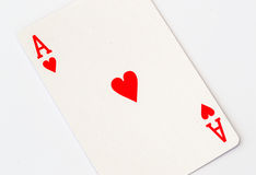 Macro Studio Image of Ace of Hearts Playing Card Royalty Free Stock Image