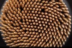 Macro stuzzicadenti di legno Fotografia Stock