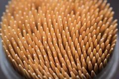 Macro stuzzicadenti di legno Immagine Stock