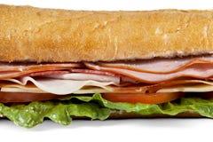 Macro submarine sandwich Stock Images