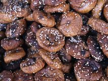 Delicious dried figs at a food market stock photos