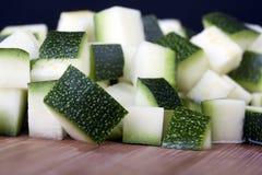 Macro tagliata dello zucchino Immagini Stock Libere da Diritti