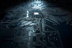 Macro technologie de carte Image libre de droits