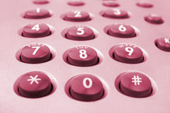 Macro of telephone keypad Stock Photos