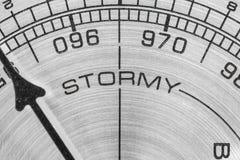 Macro tempestuosa del barómetro Fotos de archivo libres de regalías