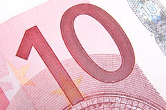 Macro ten euro Stock Photo