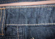 Macro Texture blue jeans textile Royalty Free Stock Image
