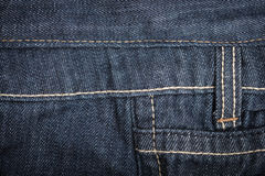 Macro Texture blue jeans textile Royalty Free Stock Photography