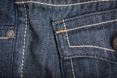Macro Texture blue jeans textile Royalty Free Stock Images