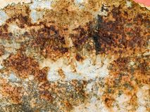 Macro texture - metal - rust and peeling paint Royalty Free Stock Images