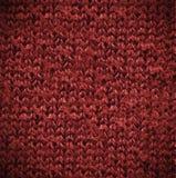 Macro texture rouge de coton Photographie stock