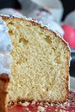 Macro texture of yeast bread, bun, panettone or easter cake. Close up. Selective focus. Macro texture of yeast bread, bun, panettone or easter cake. Close up stock image