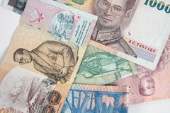 Macro thai bank notes Royalty Free Stock Photography