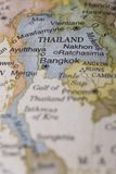 Macro of Thailand on a globe. Narrow depth of field Royalty Free Stock Images