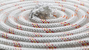 Rolled rope Stock Image