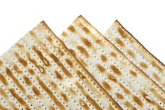 Macro of Three Matzoh (matza) Stock Photos