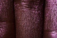 Macro three purple painted Fingers. With creasy Skin royalty free stock photos