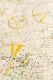 Macro tir d'un vieux diagramme marin, archipel détaillant de Stockholm Photo libre de droits