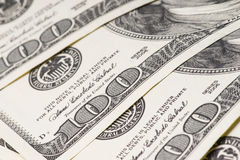 Macro tir de 100 dollars US Image stock
