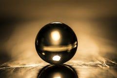 Macro tir de marbre en verre Photographie stock