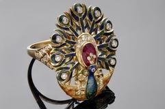 Macro tir des bijoux d'or Photographie stock libre de droits