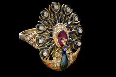 Macro tir des bijoux d'or Photo libre de droits