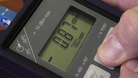 Macro tir du compteur d'électricité optique banque de vidéos