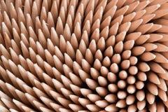 Macro of toothpicks. A macro shot of toothpicks' tips stock image
