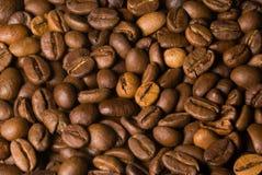 Macro total de los granos de café Fotografía de archivo libre de regalías