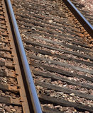 Macro train tracks Royalty Free Stock Image