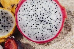 Macro Of Tropical Fruit Stock Photos