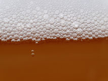 MACRO: Unfiltered beer bubbles Stock Photo
