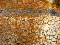 Macro Urban Cracks. A creative super macro photo of textures, concrete and rust suitable for backgrounds Stock Images