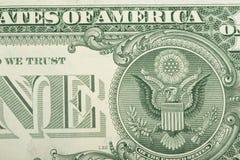 Macro of US dollar money banknote Stock Photos