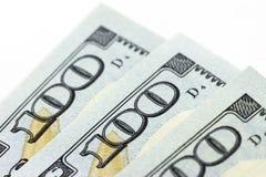 Macro US dollars on white background Stock Images