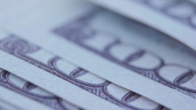 Macro of US one hundreed dollar bill stock video footage