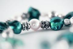 Macro van azuurblauwe juwelen stock foto's
