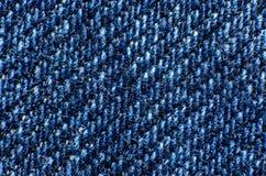 Macro van blauwe stof op het gehele kader royalty-vrije stock fotografie