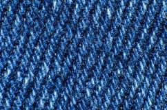 Macro van blauwe stof op het gehele kader royalty-vrije stock foto's