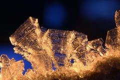 Macro van de Ingewikkelde Kristallen van de Rijp Royalty-vrije Stock Fotografie