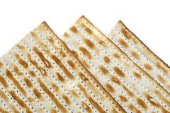 Macro van Drie Matzoh (matza) Stock Foto's